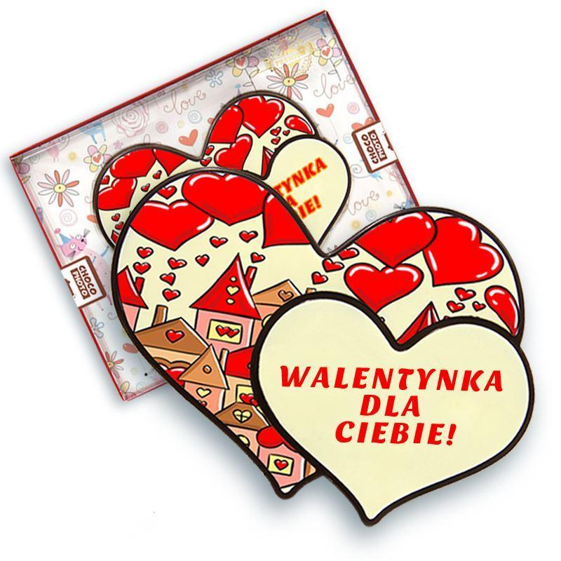 Serce z czekolady podwójne walentynka 100
