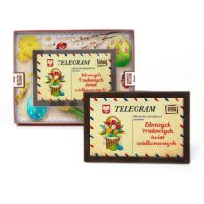 Wielkanocny telegram z czekolady