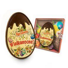 """Jajo """"Życzenia Wielkanocne"""" z czekolady 98"""