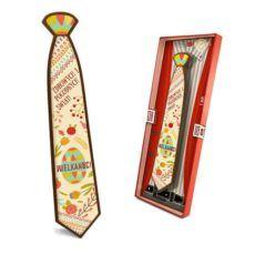 Wielkanocny, kolorowy krawat z życzeniami