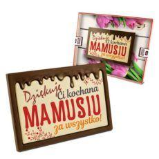 Tabliczka czekolady z życzeniami z okazji Dnia Mamy