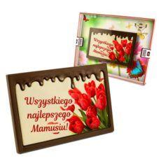 Czekoladowe czerwone tulipany na Dzień Mamy