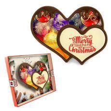 Czekoladowo-świąteczne serce na Boże Narodzenie