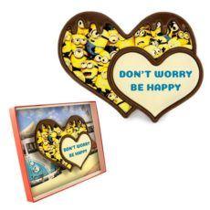 Podwójne minionkowe serce z czekolady 100