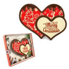 Świąteczne serduszko z czekolady na Boże Narodzenie