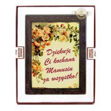 Czekoladowa kartka z okazji Dnia Mamy
