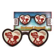Serduszkowe okulary z czekolady na Dzień mamy 50