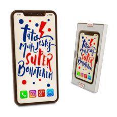 Czekoladowy Iphone XS Max dla Taty bohatera w dniu Jego święta