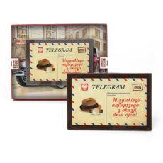Słodki telegram z życzeniami na Dzień Taty z nadrukiem