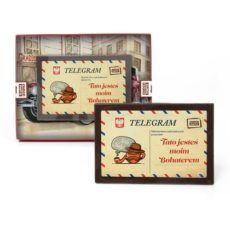 Telegram z czekolady na Dzień Taty 95