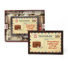 Czekoladowy telegram z życzeniami na Dzień Taty prezent 95