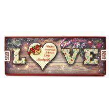 Czekoladowe Love z okazji Świąt Bożego Narodzenia