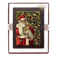 Czekoladowa kartka z Mikołajem na Boże Narodzenie