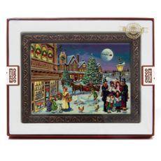 Kartka na Boże Narodzenie z czekolady