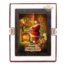 Bożonarodzeniowa kartka z czekolady na te Święta