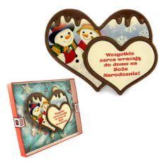 Bożonarodzeniowe serduszko z czekolady