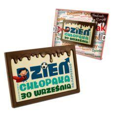 Najlepsze życzenia na czekoladowej tabliczce z okazji Dnia chłopaka 100