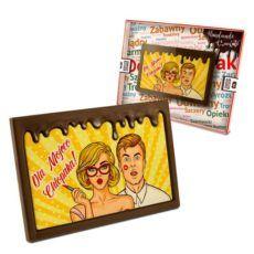 Tabliczka czekoladowa ze specjalnymi życzeniami na Dzień chłopaka 100