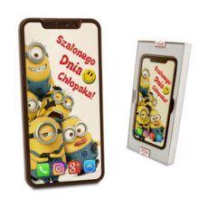 Czekoladowy  Smartfon z życzeniami na Dzień chłopaka 100