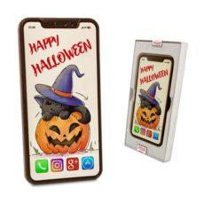 Życzenia na Halloween na czekoladowym Iphonie XS Max
