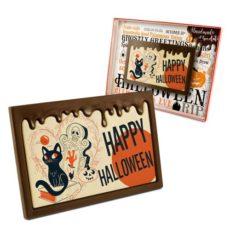 Życzenia na Halloween z czekolady