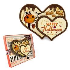 Życzenia Halloweenowe na czekoladowych sercach