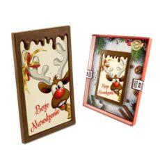 Reniferowe życzenia z czekolady na Boże Narodzenie