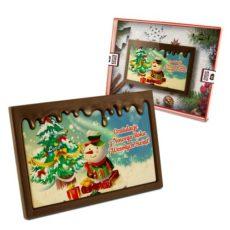Słodkie życzenia od bałwanka na Boże Narodzenie i Nowy Rok