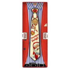 Czekoladowy krawat z życzeniami od Świętego Mikołaja