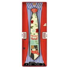 Bajeczny krawat z czekolady ze świątecznymi życzenia