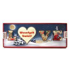 Zimowe literki LOVE na Boże Narodzenie