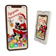 Czekoladowy Iphone XS Max od Świętego Mikołaja na Nowy Rok