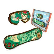 Deska snowboardowa z bałwankiem z okazji Bożego Narodzenia 50