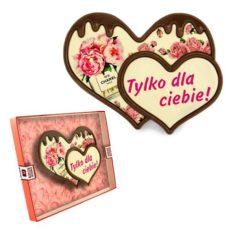 Dwa serduszka z czekolady na Walentynki