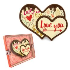 Dwa serduszka z czekolady na Walentynki 100
