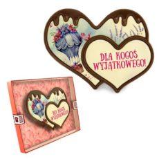 Podwójne czekoladowe serce na Walentynki