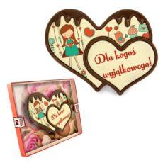 Podwójne czekoladowe serce na Walentynki 100