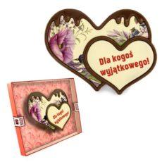Dwa miłosne serca z czekolady na Walentynki 100
