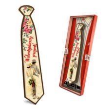 Czekoladowy krawat prezent z okazji Dnia Walentynki