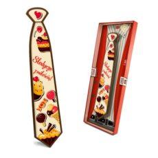 Czekoladowy krawat prezent na Walentynki