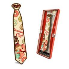 Czekoladowy krawat prezent na Walentynki 85