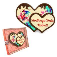 Podwójne czekoladowe serce na Dzień Kobiet