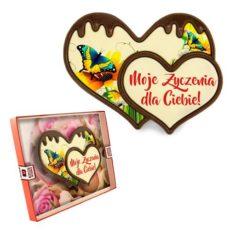 Podwójne czekoladowe serce na Dzień Kobiet 100
