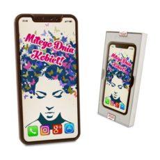 Czekoladowy Iphone X z życzeniami na Dzień Kobiet