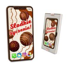Czekoladowy Iphone X z życzeniami na Dzień Kobiet 100