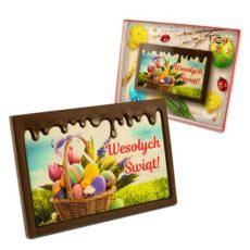 Kolorowo-czekoladowe życzenie na Wielkanoc