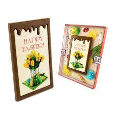Czekoladowa Wielkanocna kartka z życzeniami