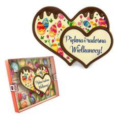Podwójne czekoladowe serce na Wielkanoc