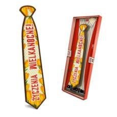 Słodki krawat z życzeniami na Wielkanoc 85