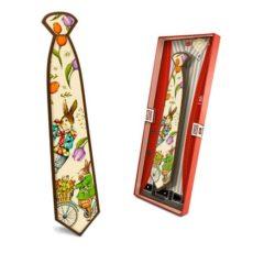 Radosny krawat Wielkanocny z czekolady 85